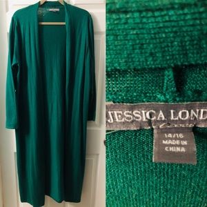 Forest Green long cardigan